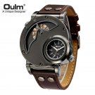 Oulm Watch Man Quartz Watches Top Brand Luxury Leather Strap Military Sport