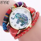 CCQ Brand Bohemian Style Handmade Braided Elephant Watch Fashion Women Rope