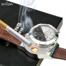 F667 Fashion Rechargeable USB Lighter Watches Electronic Men's Casual Quart