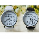 Women's watches Clock Leather Watches for women Whatever I am Late Anyway L