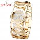 JW089 BAOSAILI  Brand Imitation Gold Plated Circles Strap Stainless Steel B