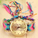 Vintage Women Ethnic Handmade Braided Quartz Watch Knitted Dreamcatcher Wri
