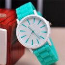 2015 New Famous Brand Geneva Silicone Quartz Watch Women Jelly Casual Dress