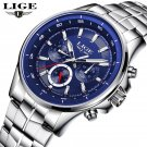LIGE Watch Men Business Waterproof Clock Mens Watches Top Brand Luxury Fash
