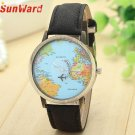 SunWard 2017 New Fashion Watches Women Global Travel By Plane Map Dress Den