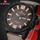 2016 Luxury Brand Military Watch Men Quartz Analog Clock Leather Canvas Str