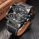 Oulm Men's Watches Mens Quartz Casual Leather Strap Wristwatch Sports Man M