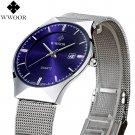 New Fashion top luxury brand WWOOR watches men quartz watch stainless steel