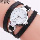 CCQ Fashion Luxury Leather Bracelet Watch Ladies Quartz Watch Casual Women