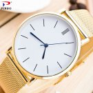 2017 fashion men and women`s stainless steel luxury quartz colock watch A 1