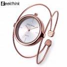 GEEKTHINK Unique Fashion Brand Quartz Watch Women Bracelet Ladies Rose Gold