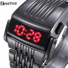 Unique Iron Man's watch Steel Blue Red Digital LED luxury military Fashion