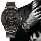 Famous Brand MIGEER Luxury Watch Man Crystal Stainless Steel Analog Quartz