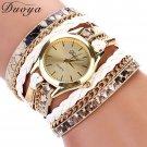 Duoya Brand Quartz Watches Women Gold Geneva Ladies Dress Gold Bracelet Wri