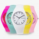 2017 Fashion Color Ultra thin Fashion Gift Silicone Strap Leisure Watch Gen