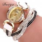 Duoya Luxury Brand Watch Women Gold Dress Crystal Rhinestone Bracelet Watch
