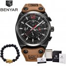BENYAR Luxury Brand Chronograph Sport Mens Watches Fashion Military Waterpr