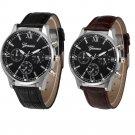 Retro Design Male Leather Band Analog Quartz Wrist Watch Mens Watches Top B