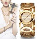 WEIQIN Brand Luxury Crystal Gold Watches Women Fashion Bracelet Quartz Watc