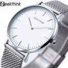 New ultra slim Top GEEKTHINK brand Quartz Watch Men Casual Business JAPAN A