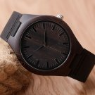 Casual Nature WoodBamboo Genuine Leather Band Strap Wrist Watch Sport Novel
