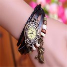High Quality Fashion Owl pendant Genuine Cow Leather watch women ladies dre