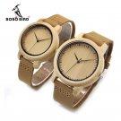 BOBO BIRD WA15L19 Women Watches Bamboo Wooden Watch Real Leather Band Quart