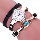 2017 New Brand Fashion Bracelet Watch Women Casual Diamond Wrap Around Leat
