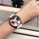 Cute Cat Watch Women PU Leather Wrist Watches Vogue Ladies Casual Analog Qu