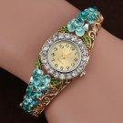 Luxury  watch Women Bracelet Quartz Luxury Crystal Flower Bracelet Watch re