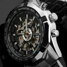 Winner brand Luminous Clock Men Automatic Mechanical Watch Skeleton Militar