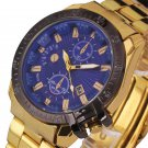 watch men luxury brand famous Gold black watch men waterproof Stainless Ste