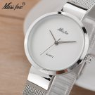 Miss Fox Silver Minimalist Watch Steel Slim Simple Style Ultra Thin Watch W