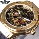 Winner 3 Dial Golden Metal Series Men Watches Top Brand Luxury Automatic Wa