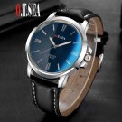 Luxury O.T.SEA Brand Blue Ray Glass Faux Leather Watch Men Women Military Q