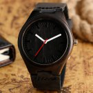 Simple Casual Wooden Watch Natural Bamboo Handmade Wristwatch Genuine Leath