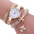 Bracelet watch Women Leather Rhinestone Analog Quartz Wrist Watches Ladies
