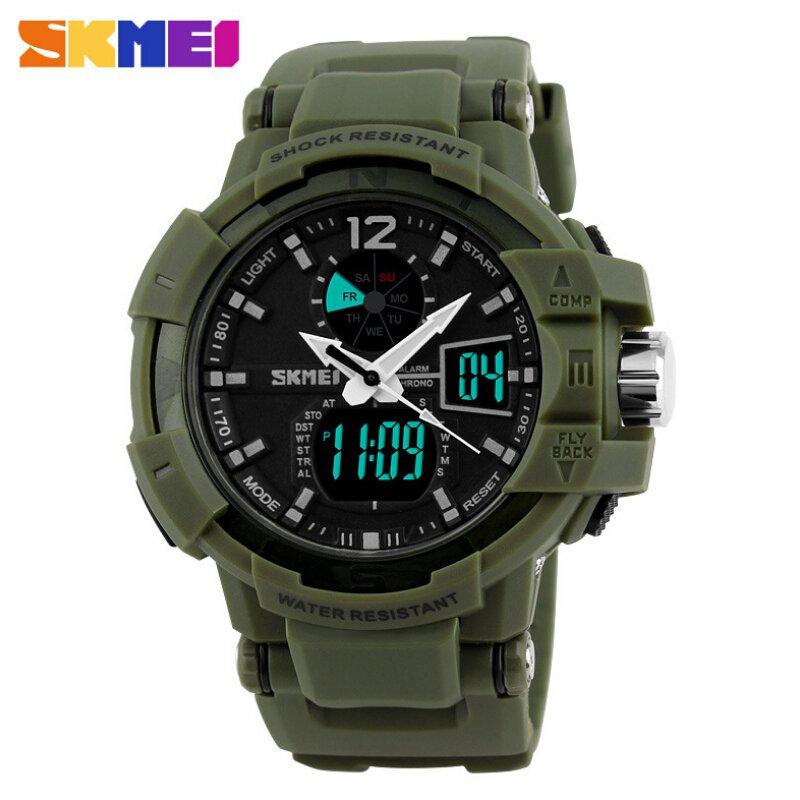 Fashion Outdoor Men Boy Sports Watches SKMEI Brand LED Digital Quartz Multi