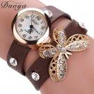 Hot sale Watch Women luxury Butterfly Leather strap Casual Bracelet Watch W