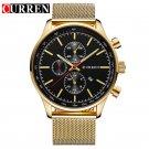 2016 CURREN Watches Luxury Brand Men Watch Full Steel Fashion Quartz Watch