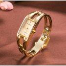 2016 Fashion brand women fashion luxury ladies gold stainless steel watch w