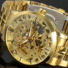 2016 New Winner Gold Watches Luxury Brand Men's Fashion Automatic Hollow Ou