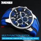 SKMEI 9128 Men Quartz Wristwatches Fashion Sport Stop Watch Auto Date 30M W