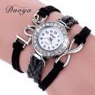 Duoya Popular Brand Watch Women Bracelet 2016 Silver Love Jewelry Weave Lea