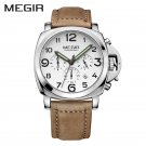 MEGIR Clock Men Top Brand Luxury Quartz Men Watch Big Dial Chronograph Mili