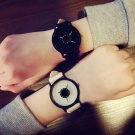 Simple Fashion Korean Lovers Couple Quartz Watch Leather Clock Men And Wome