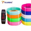 TEAROKE Kids Women Men LED Bracelet Silicone 12 Candy Colors Date Digital S