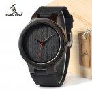 BOBOBIRD EC22 Top Quality Men's Black Sandal Wood Watches Luxury Brand Desi