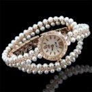 MINHIN New Brand Watch Luxurious Multilayer Pearl Chain Women's Quartz Watc