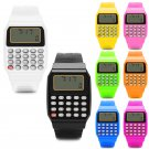 Fashion Child Kid Silicone Date Multi Purpose Electronic Calculator Wrist W